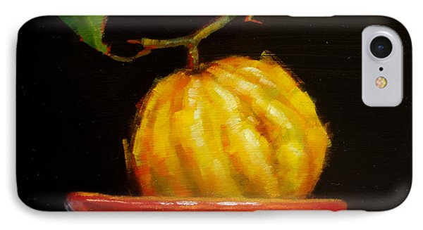 IPhone Case featuring the painting Bush Lemon In Black by Margaret Stockdale