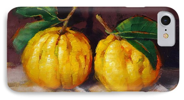 IPhone Case featuring the painting Bush Lemons by Margaret Stockdale