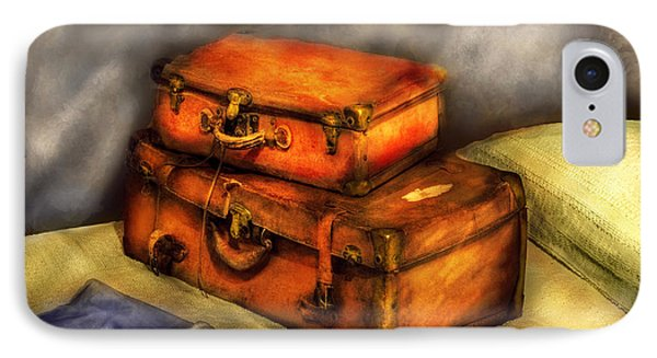 Business Man - Packed Suitcases Phone Case by Mike Savad