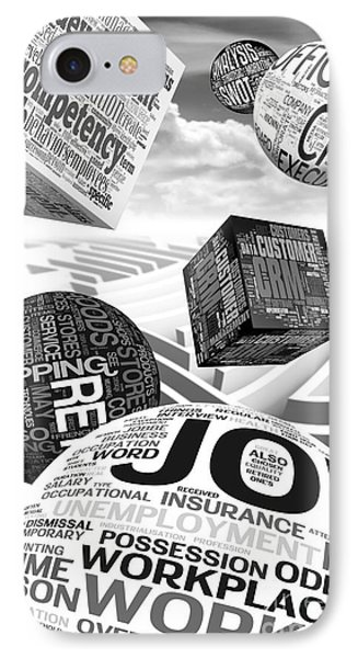 Business Related Concepts Poster IPhone Case