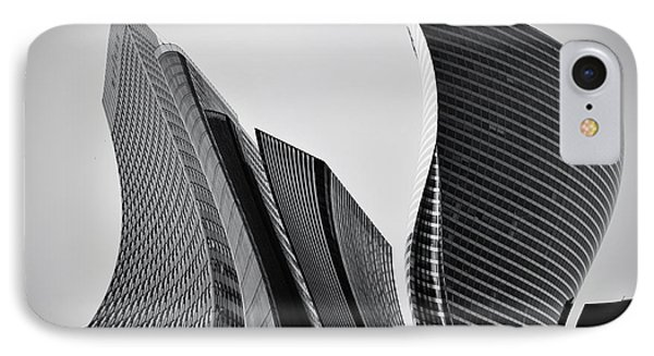 Business Skyscrapers Abstract Conceptual Architecture Phone Case by Michal Bednarek