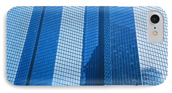 Business Skyscrapers Modern Architecture In Blue Tint Phone Case by Michal Bednarek