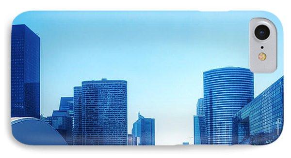 Business Skyscrapers  Paris France Phone Case by Michal Bednarek