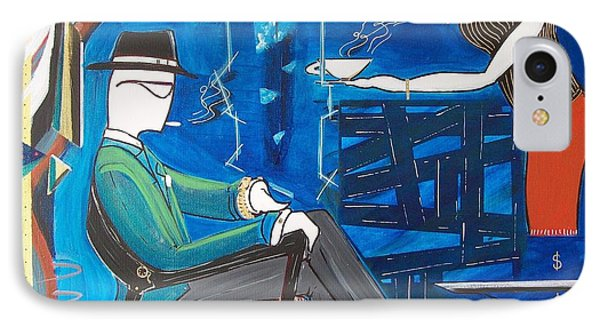 Businessman Sitting In Chair IPhone Case by John Lyes