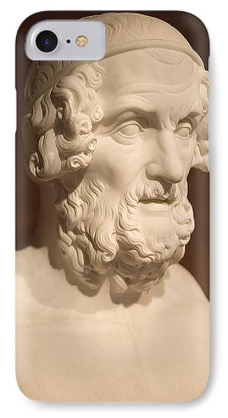 IPhone Case featuring the photograph Bust Of Homer by Mark Greenberg