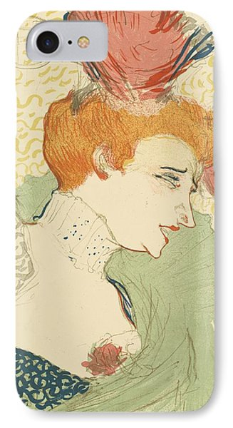 Bust Of Mlle. Marcelle Lender IPhone Case by Toulouse-Lautrec