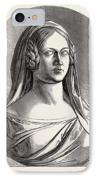 Bust Of The Late Duchess Of Kent IPhone Case by Thornycroft, Mary (n?e Francis) (1814-1895), British