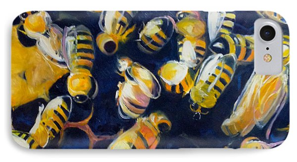 Busy Bees Phone Case by Rebecca Gottesman