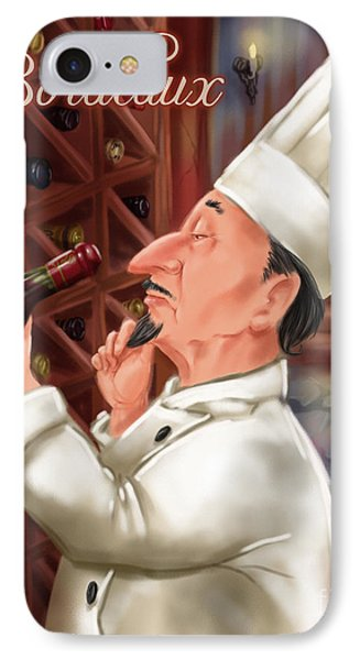 Busy Chef With Bordeaux Phone Case by Shari Warren