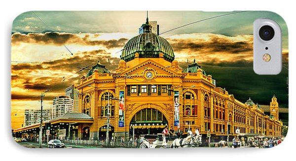 Busy Flinders St Station IPhone Case