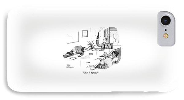 But I Digress IPhone Case by Leo Cullum