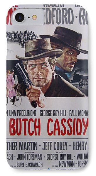 Butch Cassidy And The Sundance Kid IPhone Case by Georgia Fowler