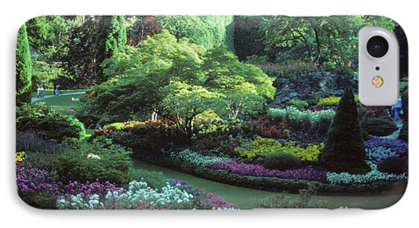 Butchard Gardens Vancouver Island Phone Case by Bob Christopher