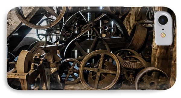 Butte Creek Mill Interior Scene IPhone Case by Mick Anderson