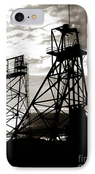 Butte Montana Headframe Phone Case by David Bearden