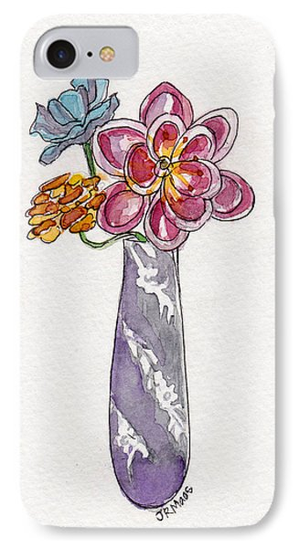 Butter Knife Vase With Flowers IPhone Case by Julie Maas