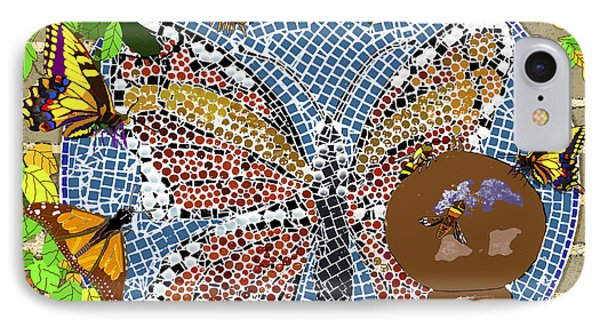 Butterflies And Bees IPhone Case