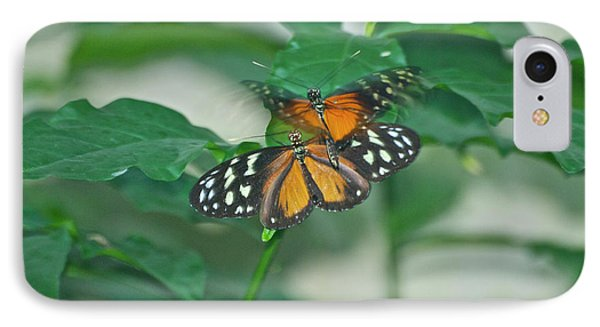 IPhone Case featuring the photograph Butterflies Gentle Touch by Thomas Woolworth