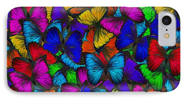 IPhone Case featuring the photograph Butterflies In Flight Panorama by Kyle Hanson