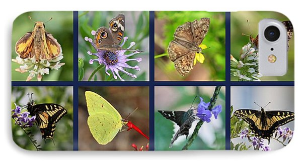 Butterflies Squares Collage Phone Case by Carol Groenen