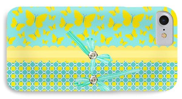 Butterflies Sun Phone Case by Debra  Miller