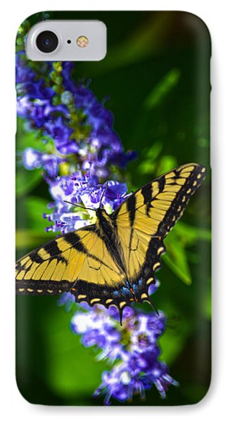 Butterflly Bush And The Swallowtail Phone Case by Sandi OReilly