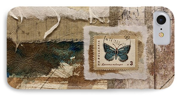Butterfly And Blue Collage IPhone Case
