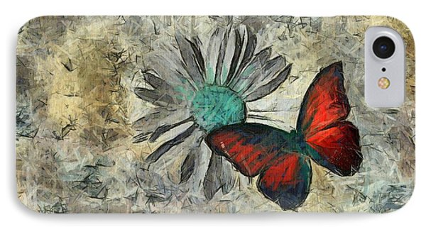 Butterfly And Daisy - Ftd01t01 IPhone Case