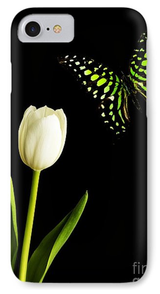 Butterfly And Tulip Phone Case by Edward Fielding