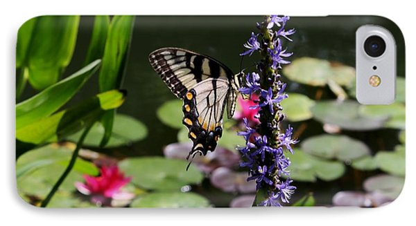 Butterfly At Lunch IPhone Case by Marilyn Carlyle Greiner