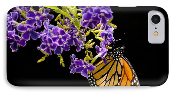 IPhone Case featuring the photograph Butterfly Attraction by Phyllis Peterson