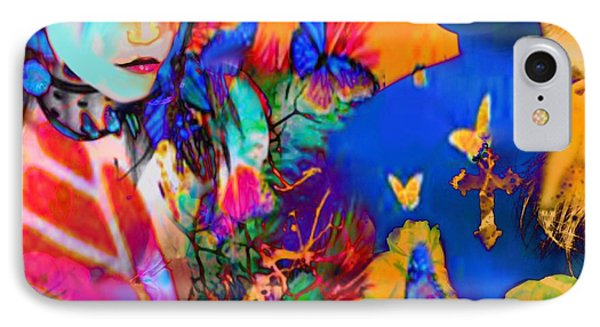 IPhone Case featuring the digital art Butterfly Beauties by Diana Riukas