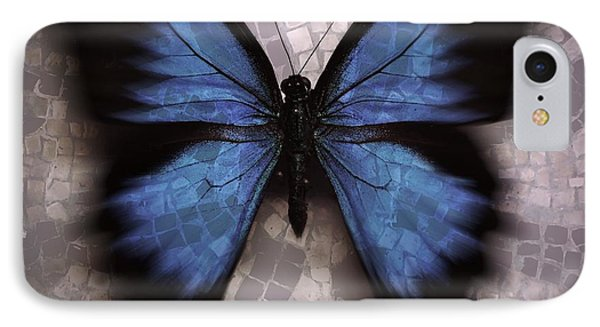 Butterfly Becomes The Mosaic  IPhone Case by Elizabeth McTaggart