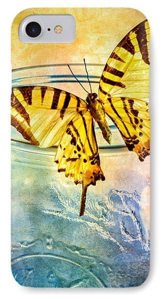 Butterfly Blue Glass Jar IPhone Case by Bob Orsillo