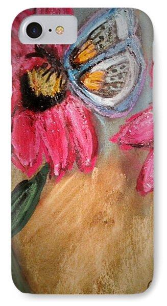 Butterfly Breakfast IPhone Case by Renee Michelle Wenker