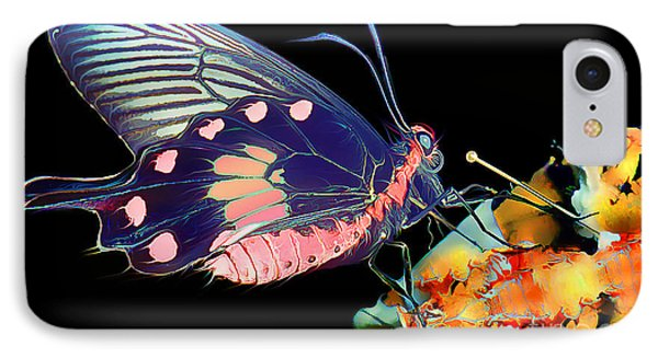 Butterfly Brushed In Water And Wind IPhone Case by Wernher Krutein