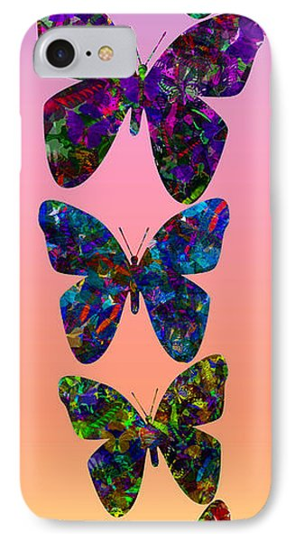 IPhone Case featuring the photograph Butterfly Collage IIII by Robert Meanor