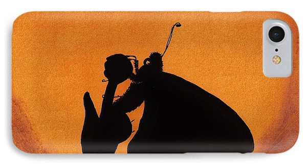 IPhone Case featuring the drawing Butterfly by D Hackett