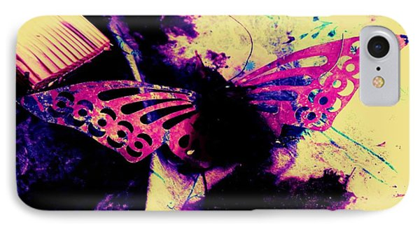 IPhone Case featuring the photograph Butterfly Disintegration  by Jessica Shelton