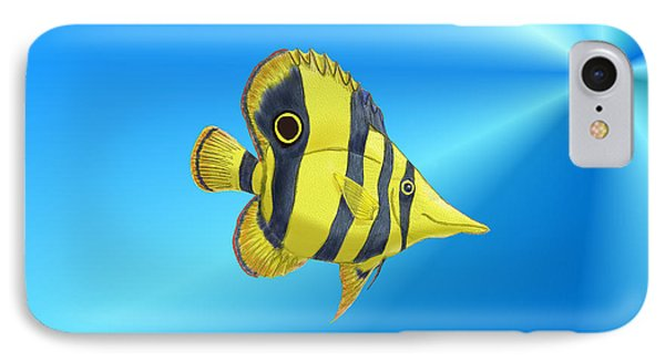 IPhone Case featuring the digital art Butterfly Fish by Chris Thomas