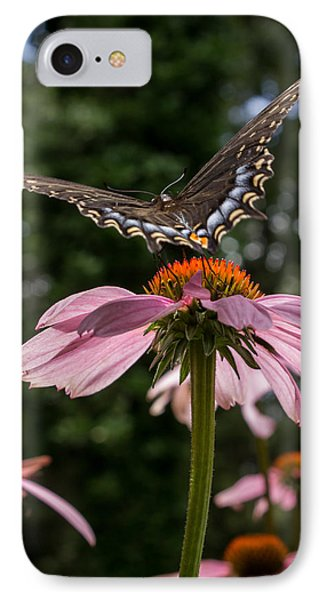 IPhone Case featuring the photograph Butterfly Flies Away by Glenn DiPaola