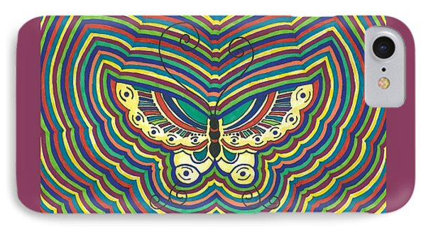 IPhone Case featuring the painting Butterfly Flutter by Susie Weber