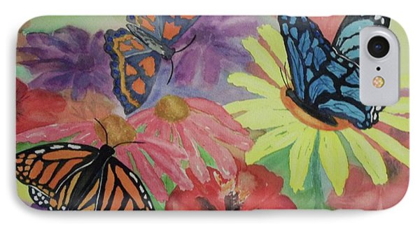 IPhone Case featuring the painting Butterfly Garden by Ellen Levinson