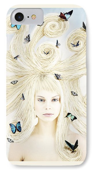 Butterfly Girl IPhone Case by Linda Lees