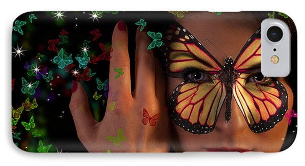 Butterfly Girl IPhone Case by Nathan Wright