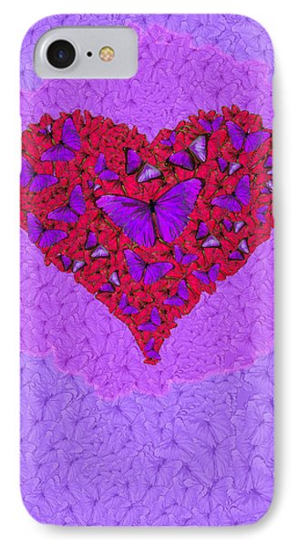 Butterfly Heart IPhone Case