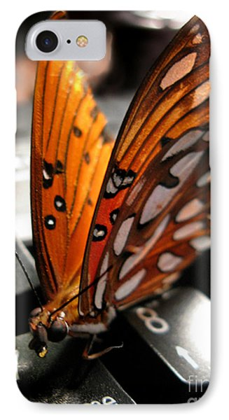 IPhone Case featuring the photograph Butterfly Home At 7 by Jennie Breeze