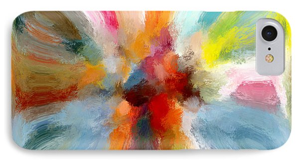 Butterfly In Abstract IPhone Case by Andrea Auletta
