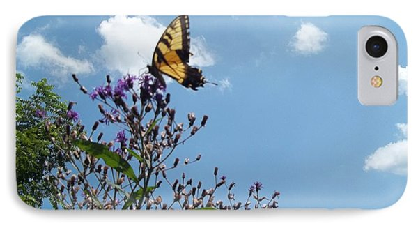 IPhone Case featuring the photograph Butterfly In The Wild by Eric Switzer