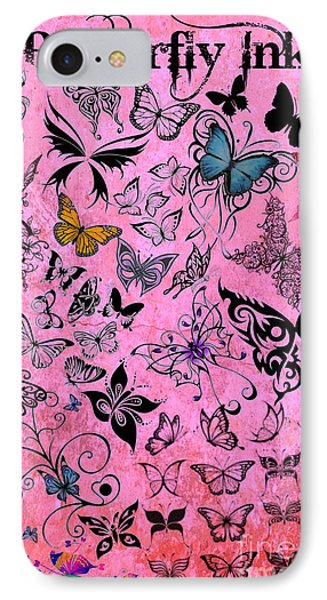 Butterfly Ink IPhone Case by Mindy Bench